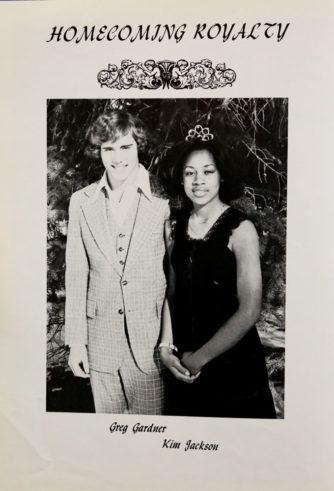 Homecoming Royalty Greg Gardner and Kim Jackson - Fall 1977